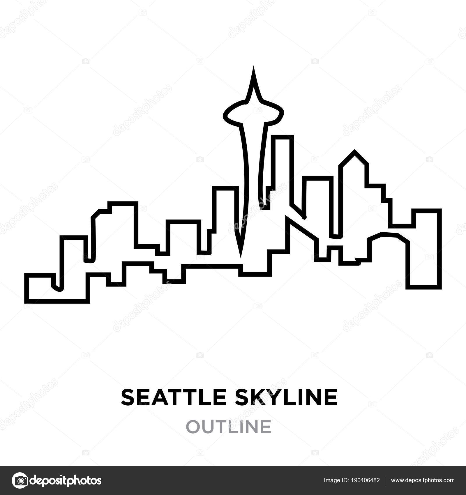 Seattle skyline outline on white background vector illustration seattle skyline outline on white background vector illustration stock vector altavistaventures