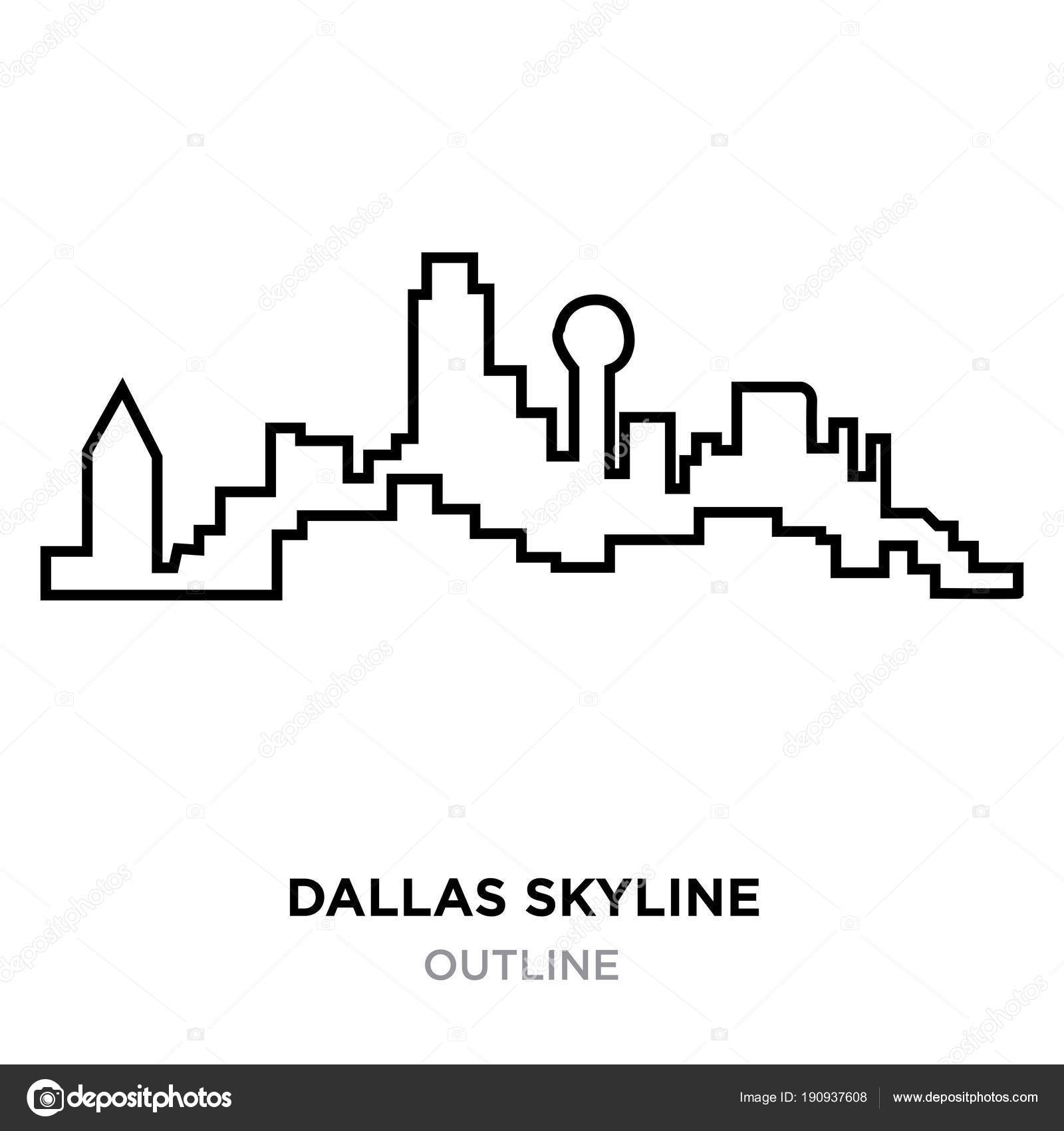 Dallas skyline outline on white background vector illustration dallas skyline outline on white background vector illustration stock vector altavistaventures
