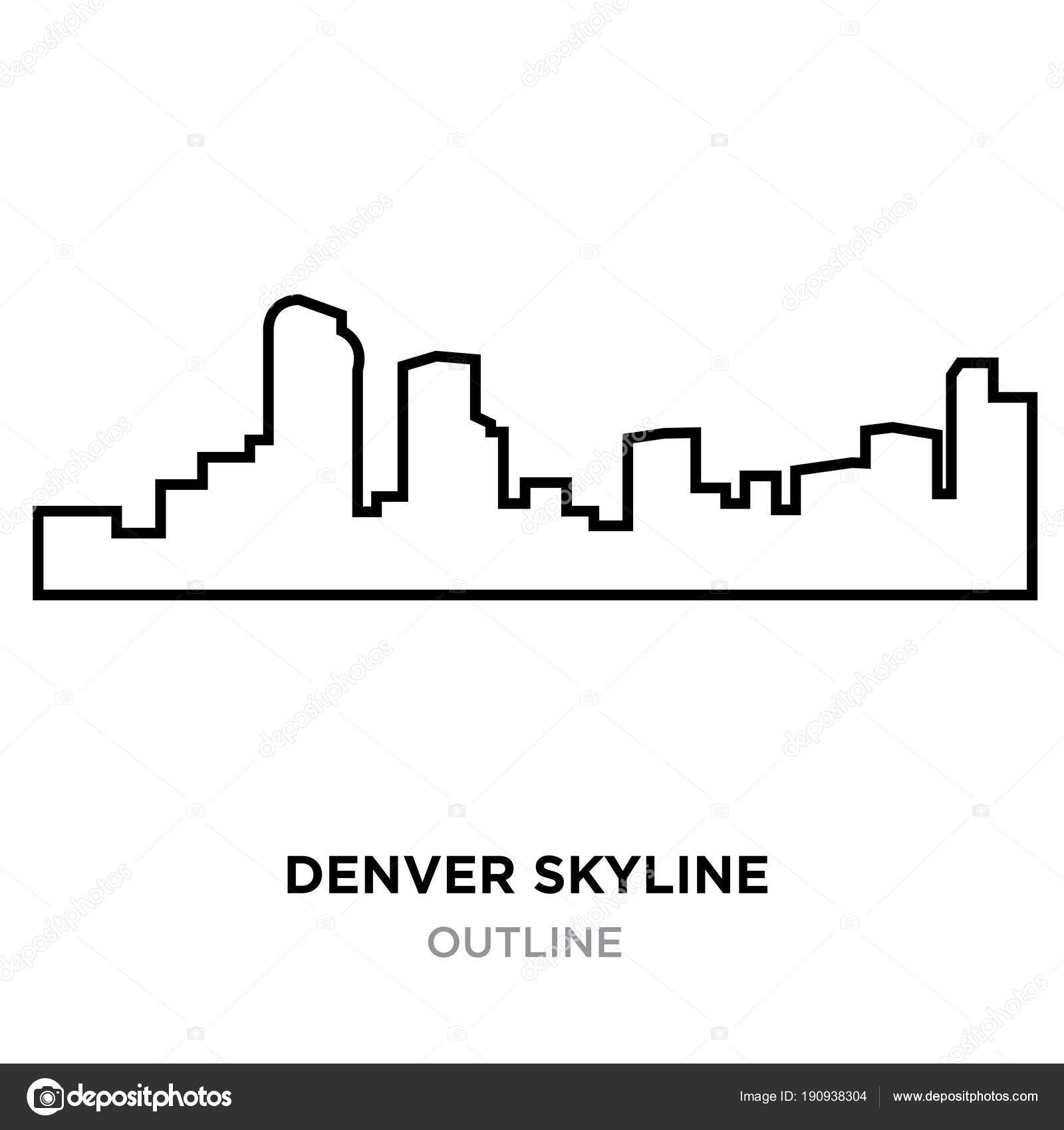 Denver skyline outline on white background vector illustration denver skyline outline on white background vector illustration stock vector altavistaventures Choice Image