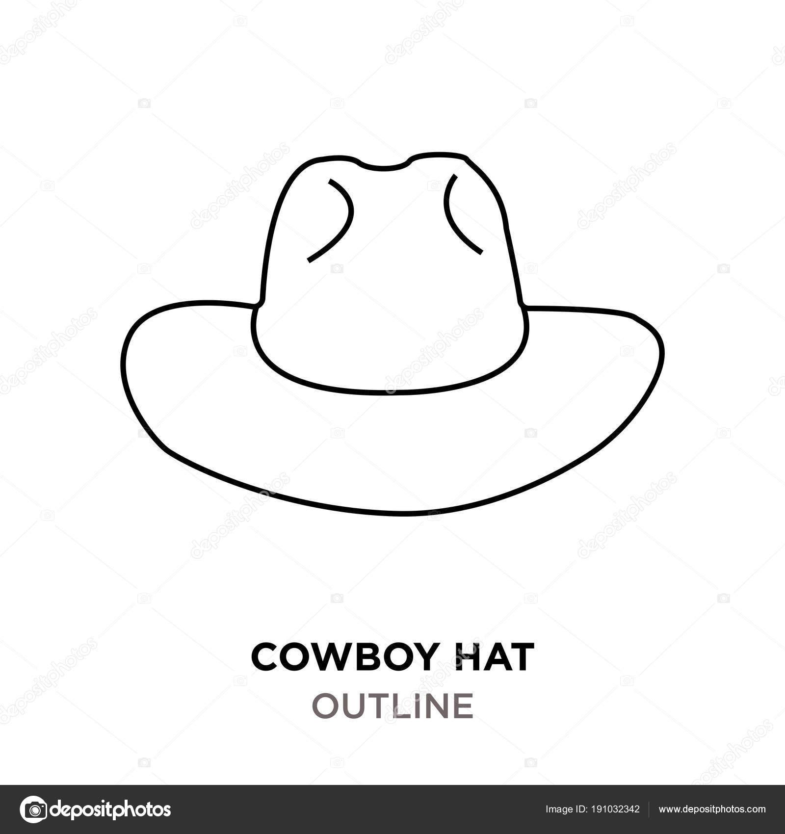 Imágenes Sombreros Vaqueros Para Colorear Esquema De