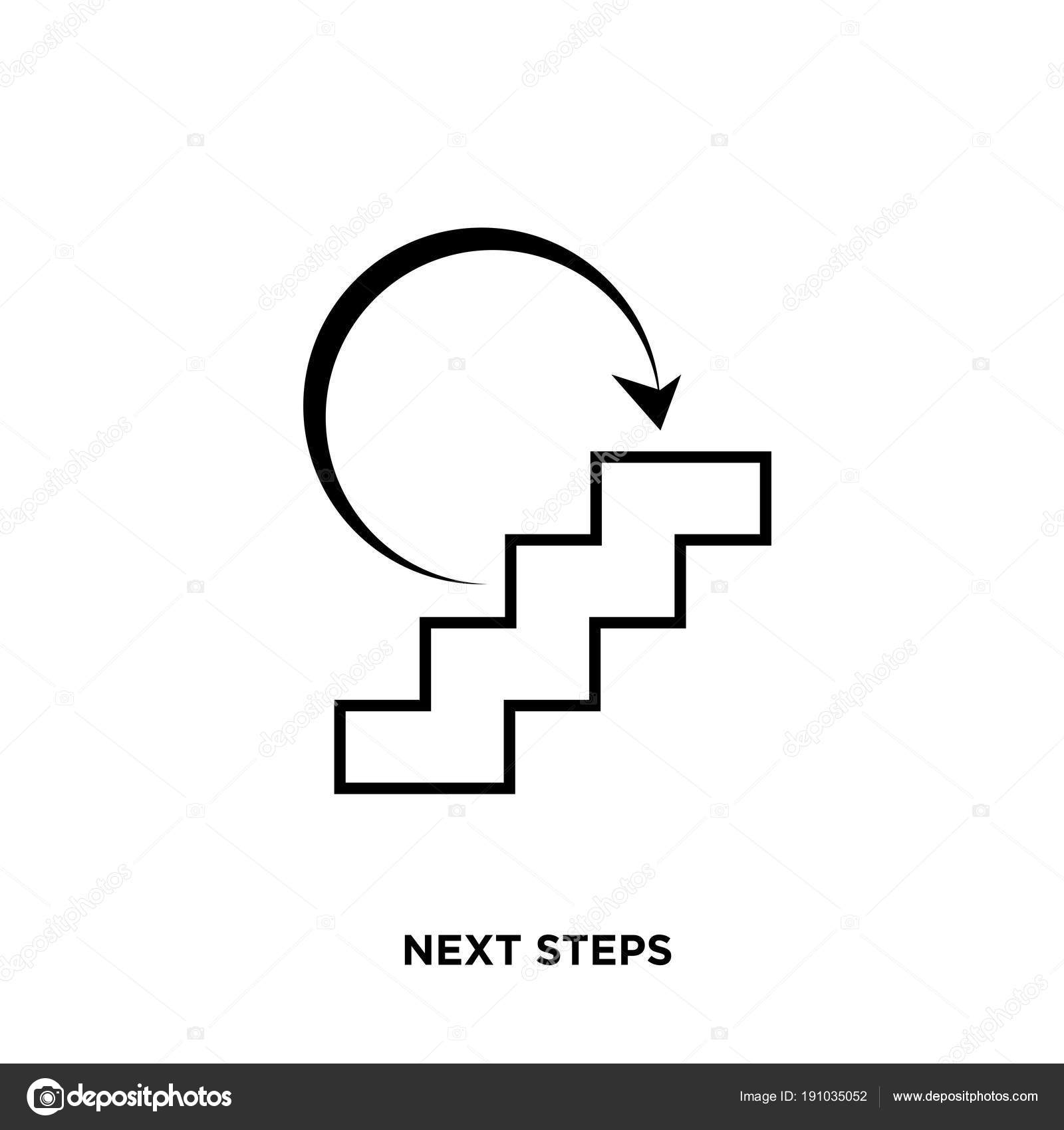 Next steps icon isolated on white background for your web, mobile and app design —