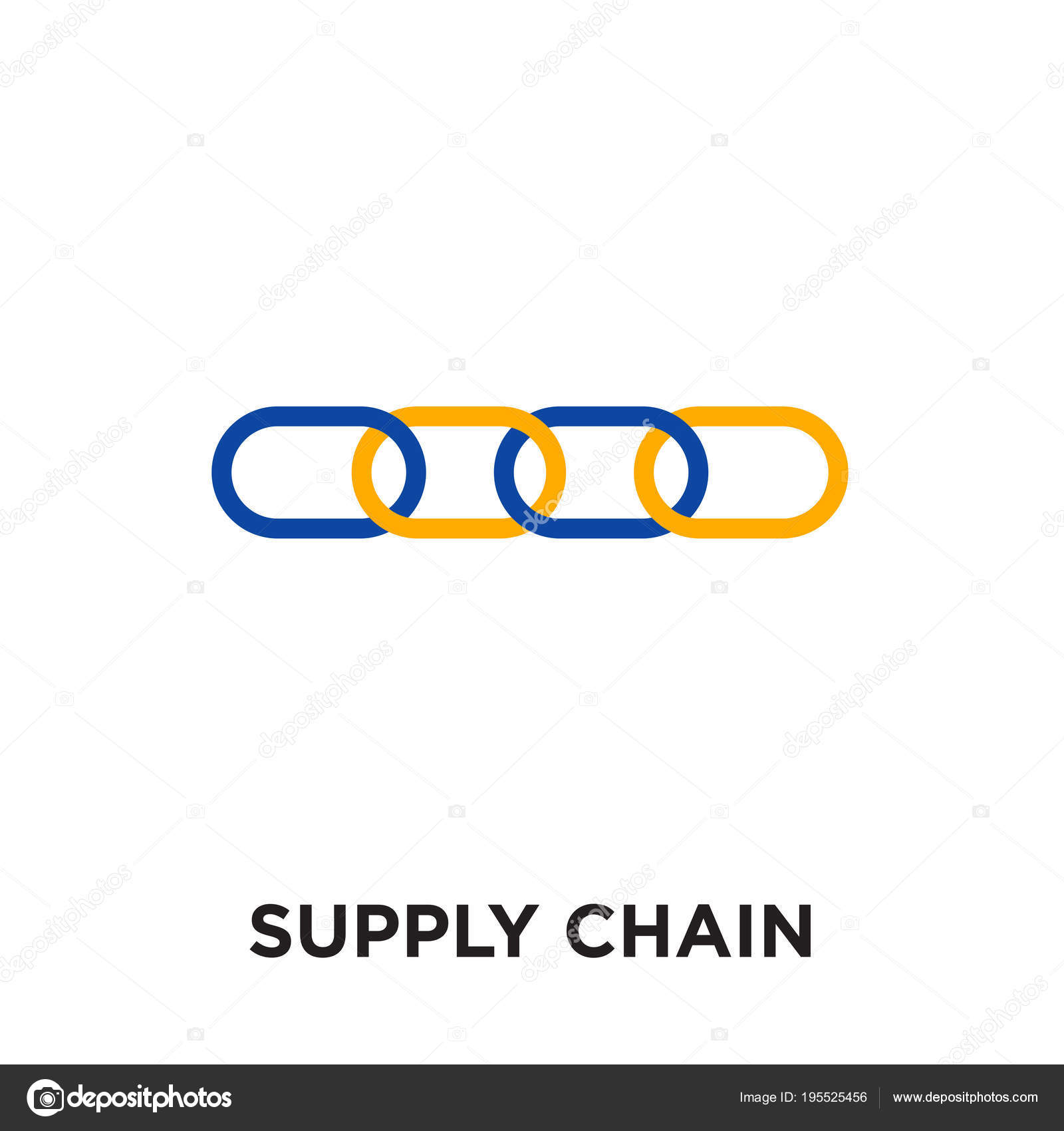 Supply Chain Logo Isolated On White Background Colorful Vector