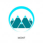 mont logo isolated on white background , colorful vector icon, b