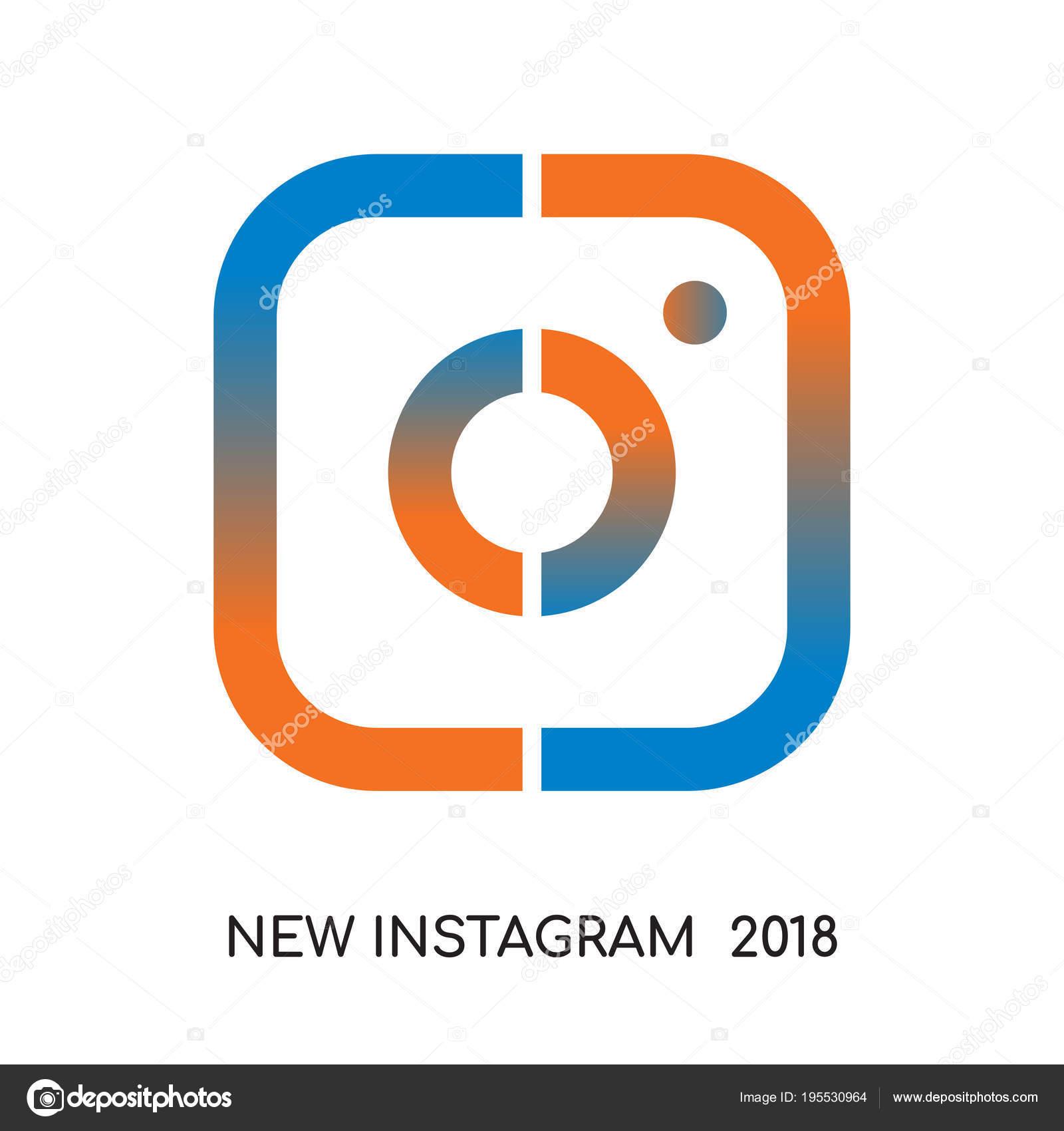 Nuovo Logo Di Instagram 2018 Isolato Su Sfondo Bianco Colorato