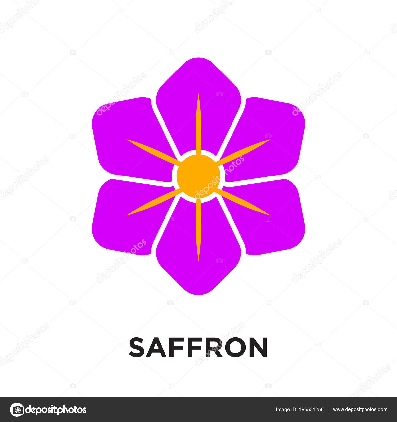Flores Vintages Png Azafran Logotipo Aislado Sobre Fondo Blanco
