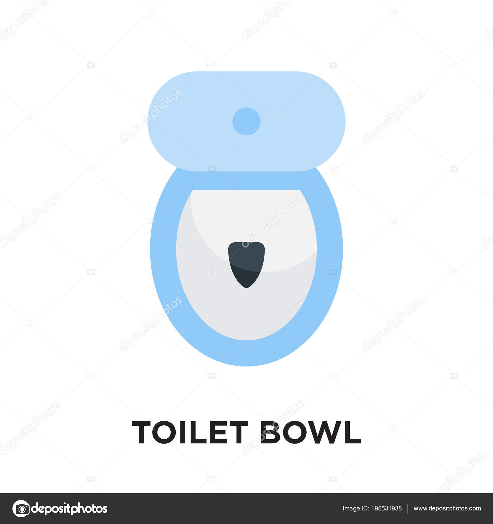 toilet bowl logo isolated on white background , colorful vector ...