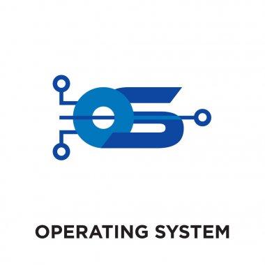 operating system logo isolated on white background , colorful ve
