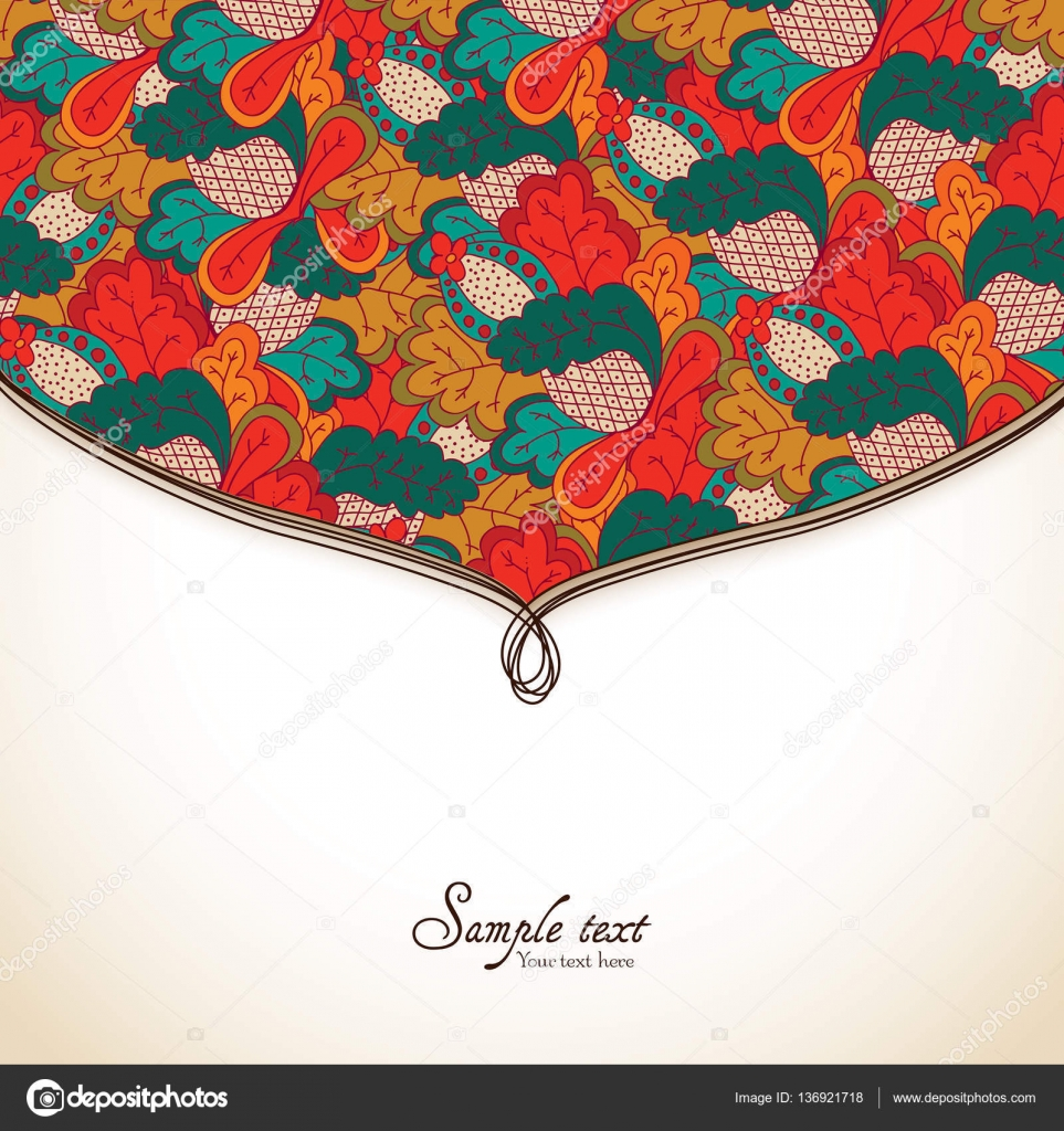 Frame, border, ornament and classic pattern. Template for greeting ...