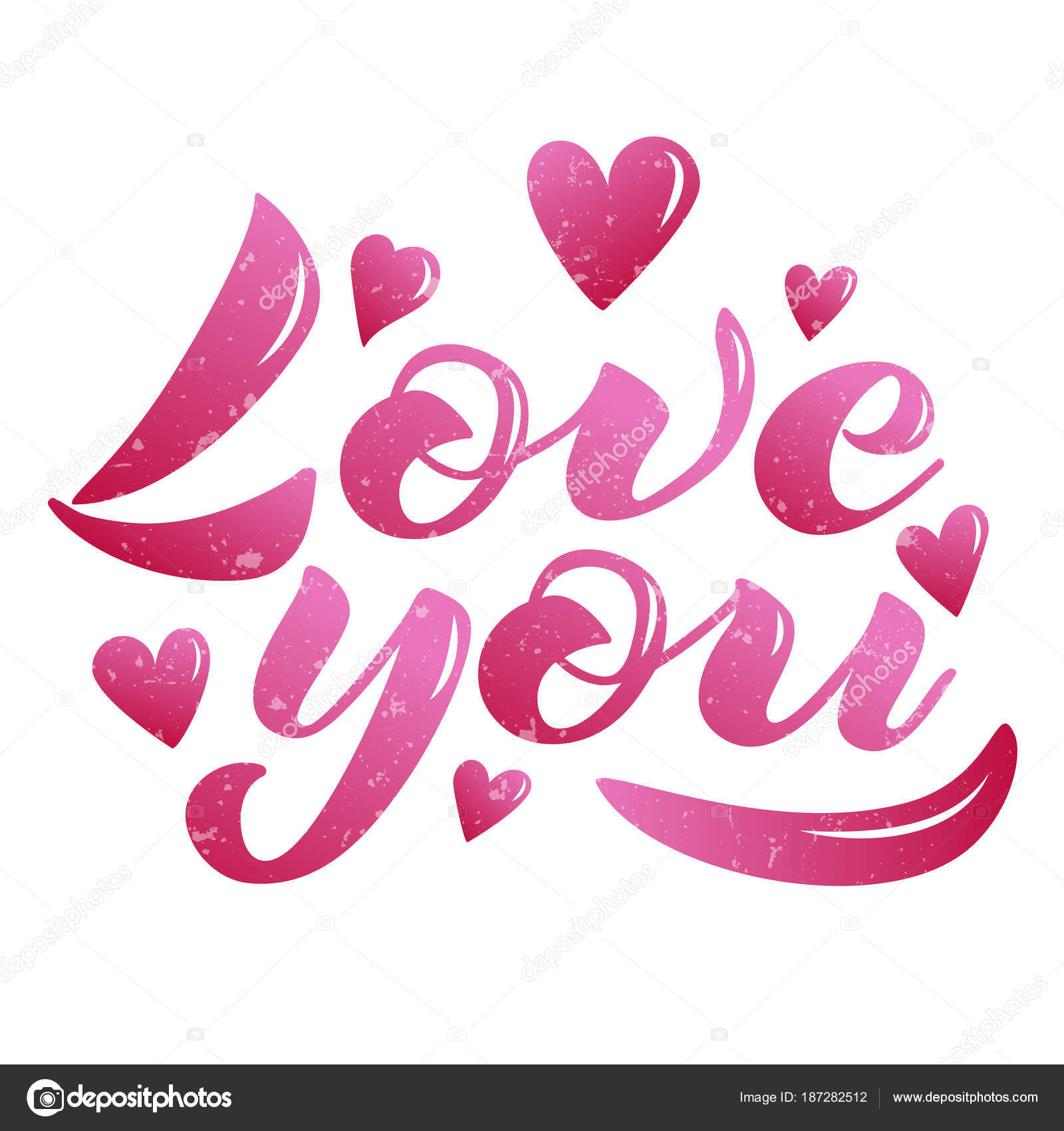 Love You Pink Stock Vector C 4victory 187282512