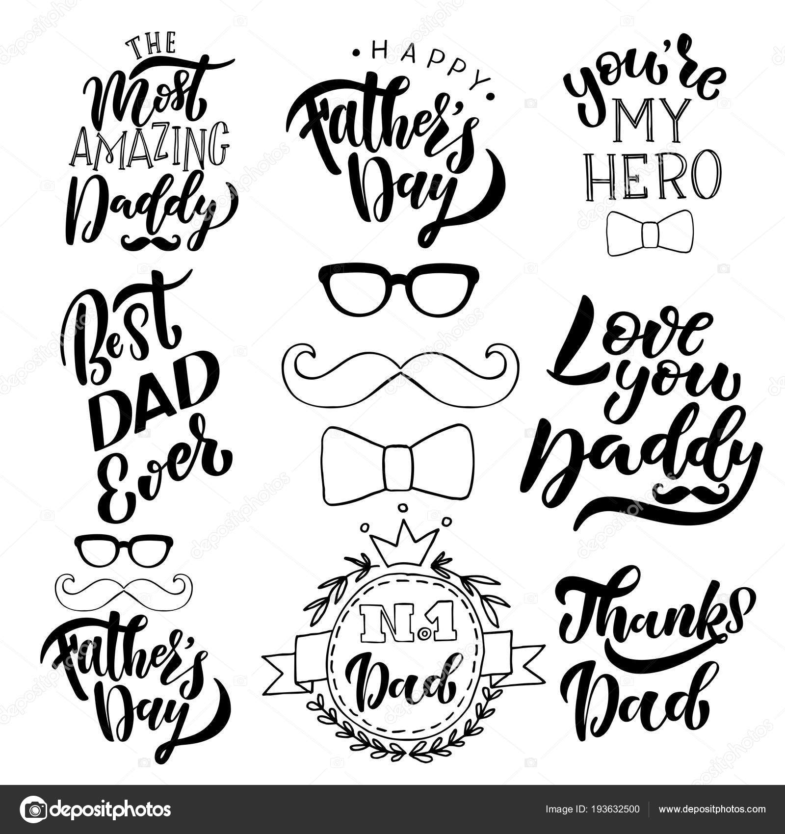 Happy Fathers Day Greeting Card Template — Stock Vector © 4victory ...