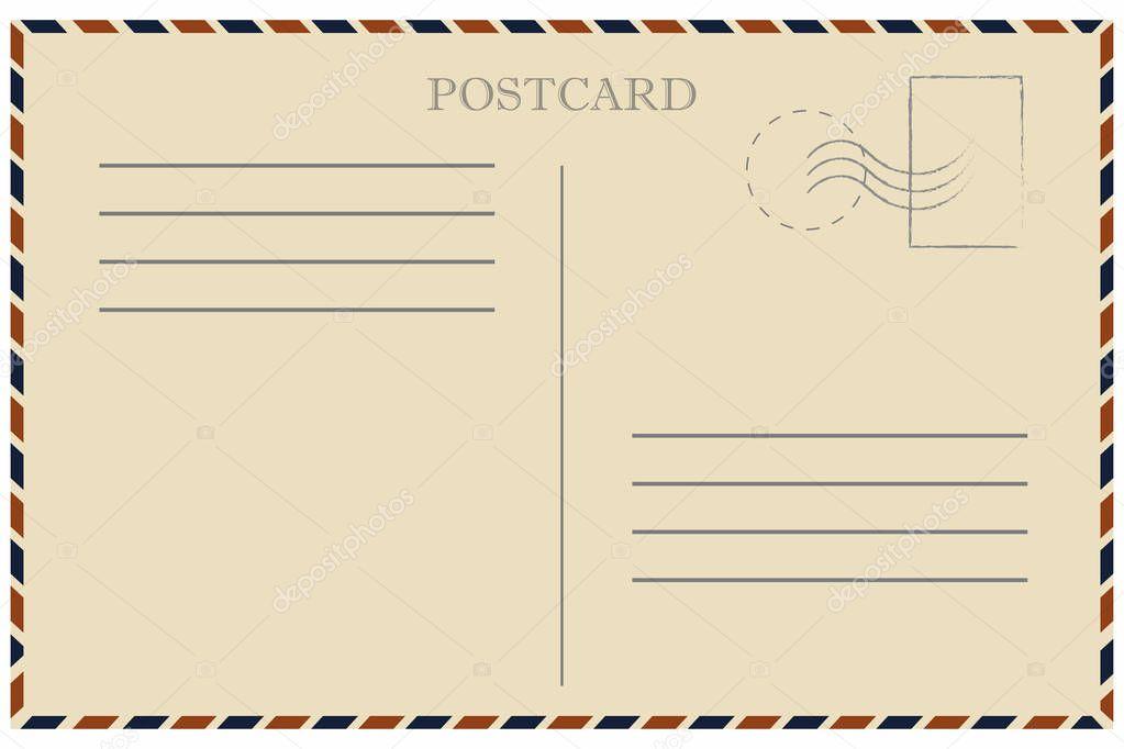 Макет почтовой открытки для печати