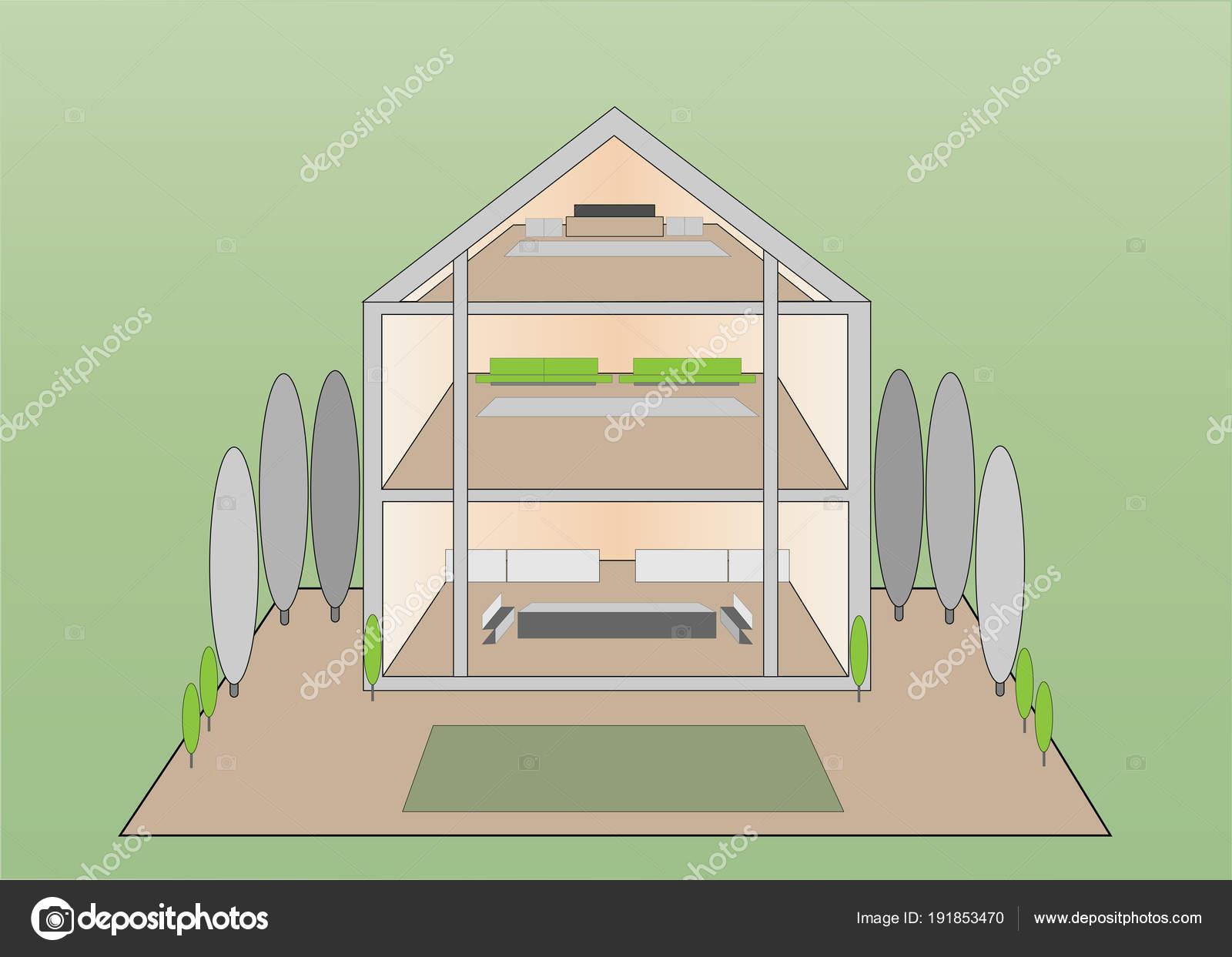 Dise o casa moderna con fachada vidrio completo zona for Fachada de casas modernas con vidrio