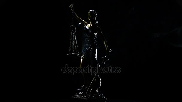 Füst szál hölgy igazságszolgáltatás forgatás alatt fekete háttér alakja