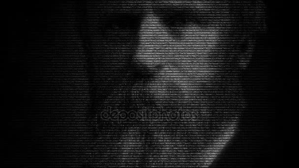 Americký prezident Rutherford Birchard Hayes tvář animace