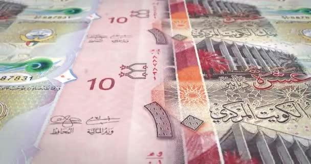 Bankovky z deseti kuvajtský Dinár na obrazovku, hotovost, kličková diuretika,