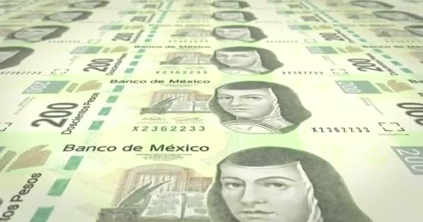 Bankovky z dvě stě Mexičané pesos na obrazovku, hotovost, kličková diuretika,