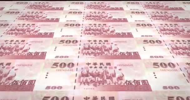Banknoten von fünfhundert taiwanesische Dollar von Taiwan Rollen, Bargeld, Schleife