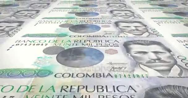 Banknoten von zwanzigtausend kolumbianische Pesos von Kolumbien, Bargeld, Schleife