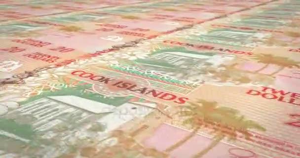 Le banconote da venti dollari delle Isole Cook rotolamento, denaro contante, ciclo