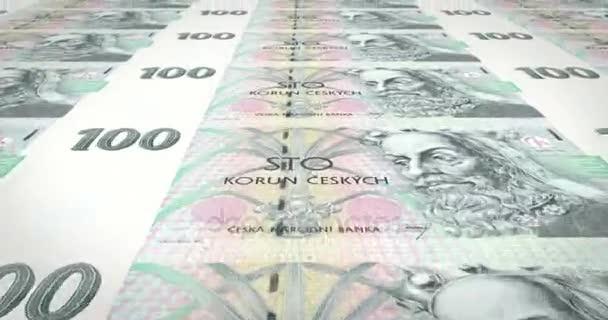 Bankovky sto českých korun z České republiky, hotovost, smyčka