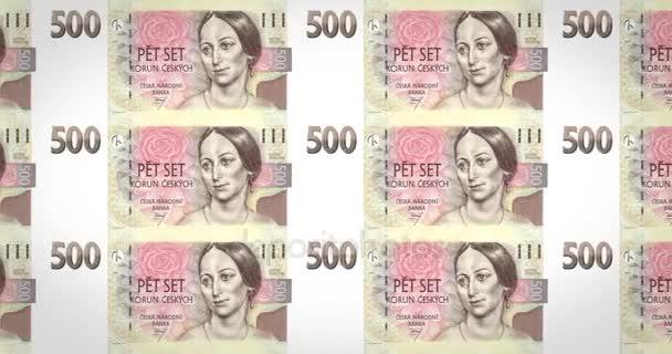 Banknoten der fünfhundert Tschechische Kronen der Tschechischen Republik, Bargeld, Schleife