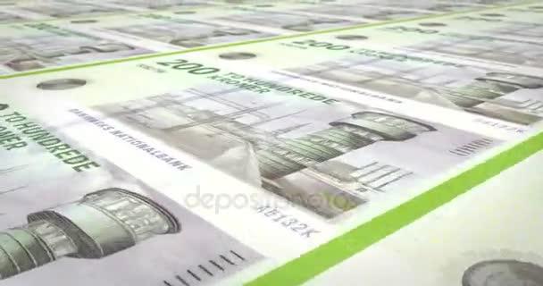Bankovky z dvě stě dánských krones Dánska, hotovost, kličková diuretika,