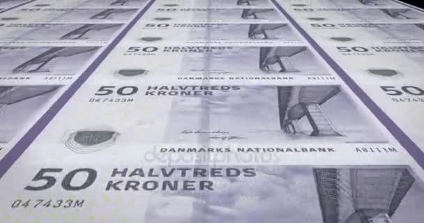 Bankovky z padesáti dánský krones Dánska, hotovost, kličková diuretika,