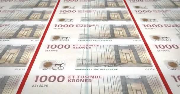 Bankovky jeden tisíc dánských krones Dánska, hotovost, kličková diuretika,