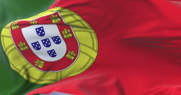 Portugália lobogója integetett a szél lassan kék ég, hurok