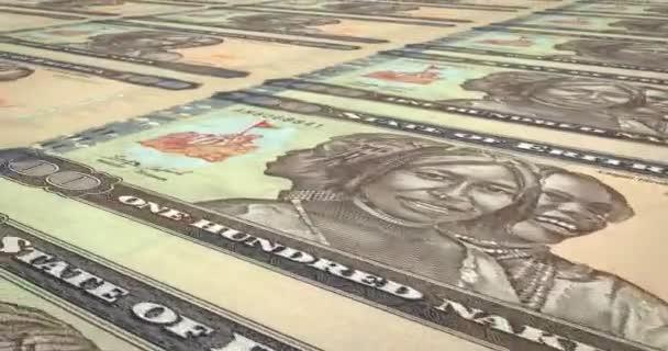 Bankovky sto Eritrejská nakfa válcování, hotovost, smyčka