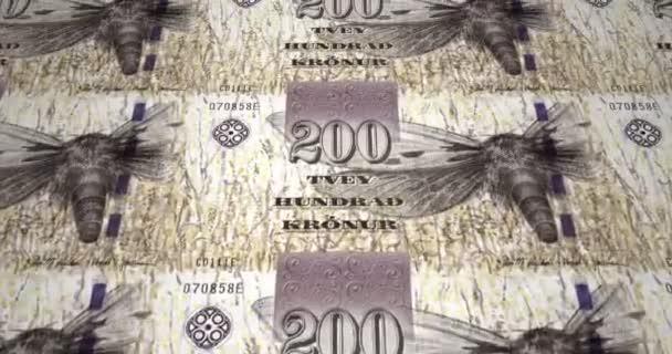 Bankovky z dvě stě Faerská koruna z Faerských ostrovů, hotovost, kličková diuretika,