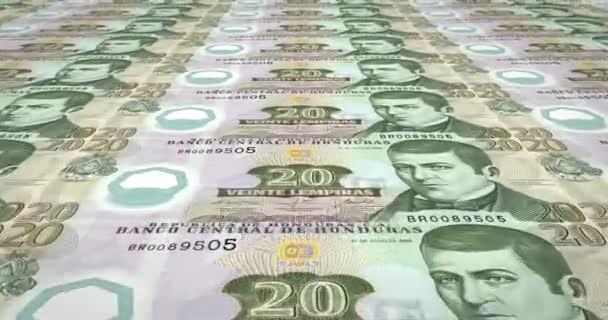 Banknoten der zwanzig Lempira von Honduras Rollen, Bargeld, Schleife