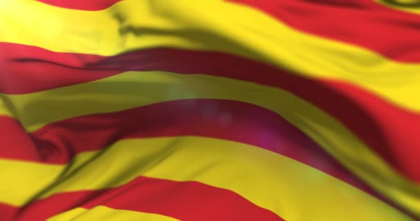 A Catalonia zászló integetett a szél, hurok