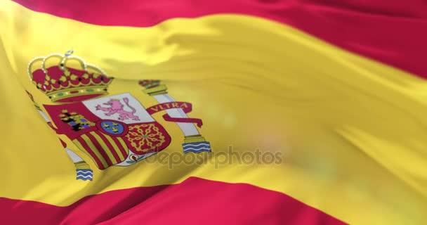 Spanyolország lobogója integetett a szél, lassú hurok