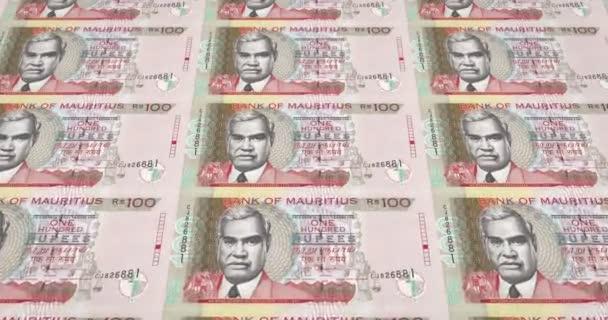 Banknoten von 100 Rupien der Inseln Mauritius, Bargeld, Schleife