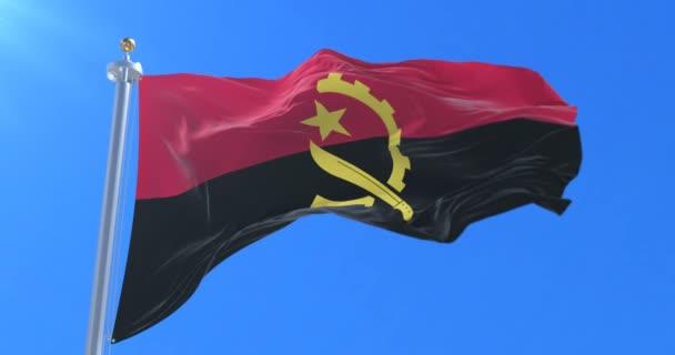 Angola zászlót lengetve-a szél lassan kék ég, hurok