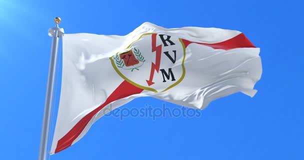 Fahne des Fußballklubs Rayo Vallecano de Madrid, spanischer Fußballklub, Schleife