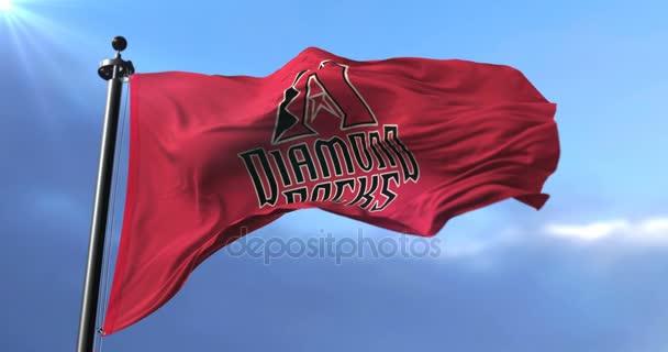 Az Arizona Diamondbacks, amerikai profi baseball-csapat - zászlaja hurok