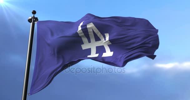 Vlag Van Het Team Van Los Angeles Dodgers Amerikaans Professioneel
