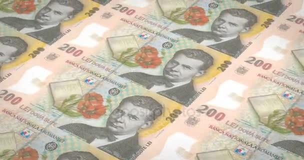 Banknoten von zweihundert rumänische Lei Rumänien Rollen, Bargeld