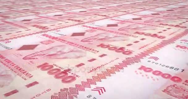 Banknotes Ten Thousand Tanzanian Shilling Tanzania Cash Money Loop ...