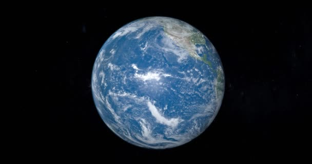 Planeta Země otáčí s Tichým oceánem
