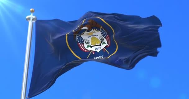 Flagge des Staates Utah, Region der Vereinigten Staaten - Schleife