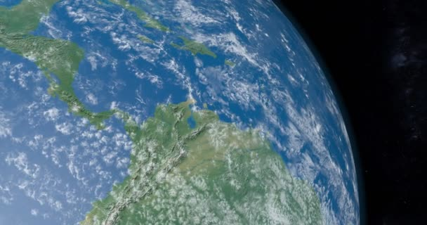 animation isthmus panama central america continent planet earth