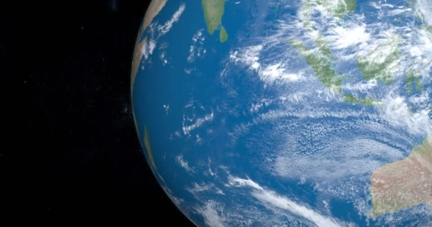 Indický oceán moře na planetě Zemi, pohled z vesmíru