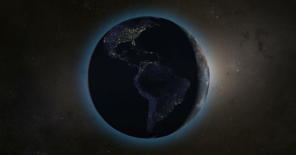 Night in the planet earth