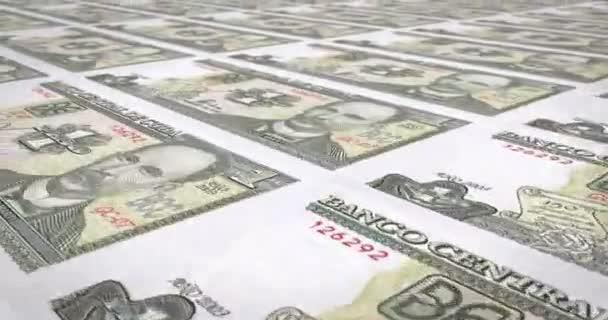 Banknoten der kubanischen Peso von Kuba, Bargeld, Schleife