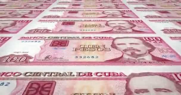 Banknoten von hundert kubanischen Pesos der Zentralbank Kubas, Bargeld, Schleife