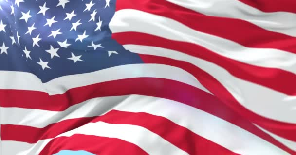 United States of American flag waving, loop