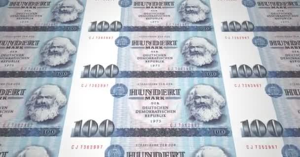 Banknoten von 100 Mark der alten deutschen Republik ist bares Geld